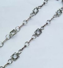 Round Rope Square and Chunky Bar unfinished chain. 1m length